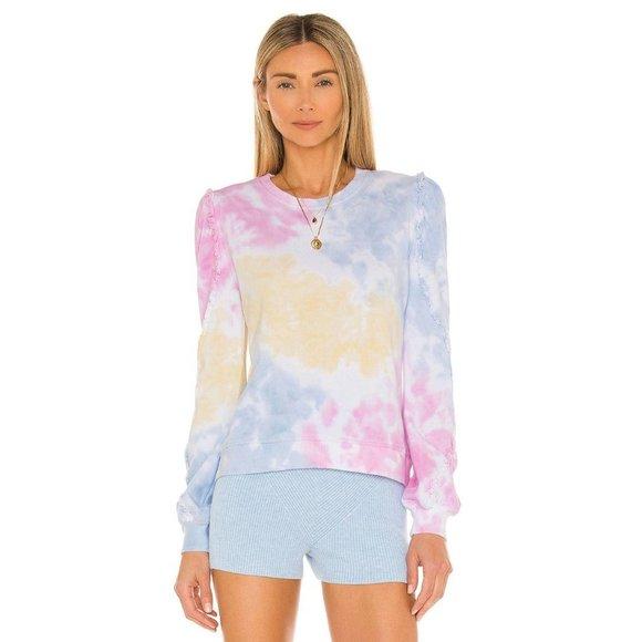 Generation Love Heidi Ruffle Tie Dye Sweatshirt